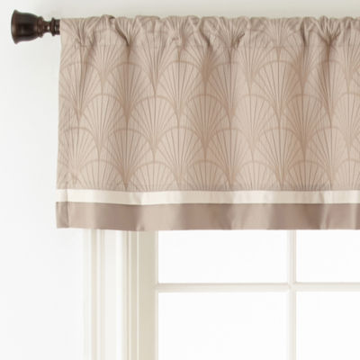 Liz Claiborne® Viceroy Rod-Pocket/Back-Tab Lined Valance