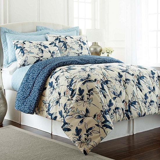 Pacific Coast Textiles Mianka 6-pc. Reversible Comforter Set