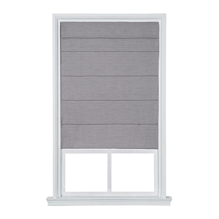 JCPenney Home Cordless Light-Filtering Roman Shade, One Size , Gray