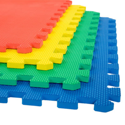 Stalwart 4-pack Multicolor Interlocking EVA Foam Floor Mats