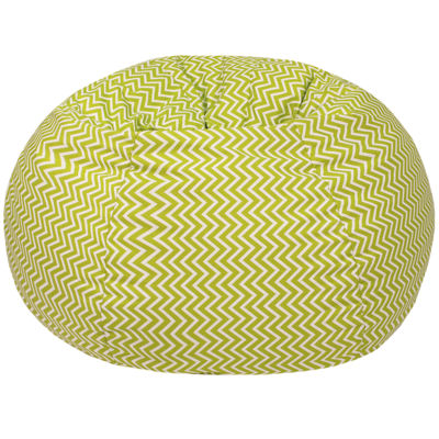 Cotton Zigzag Beanbag