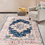 World Rug Gallery Bohemian Medallion Distressed Rectangular Indoor Rugs