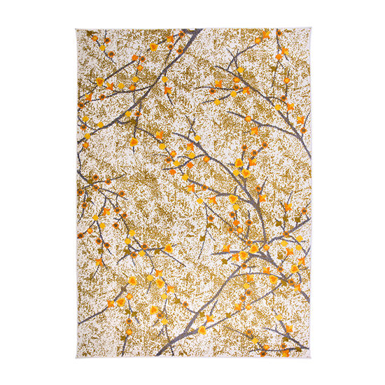 World Rug Gallery Modern Floral Branches Rectangular Indoor Rugs