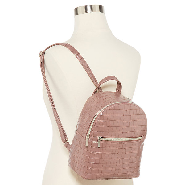 Arizona Mauve Croco Mini Backpack