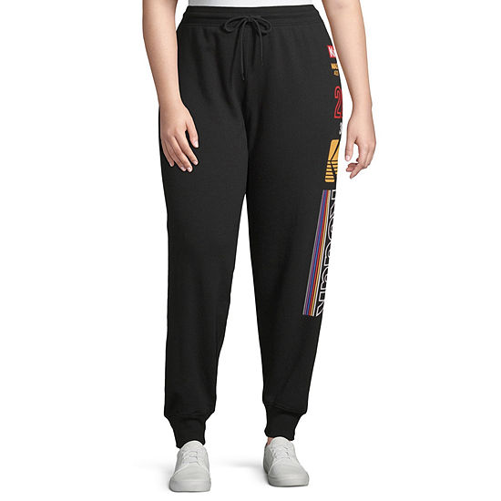 Womens Mid Rise Jogger Pant-Juniors Plus