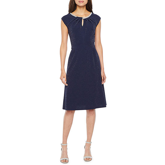 Scarlett Short Sleeve Embellished Fit & Flare Dress