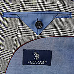 Us Polo Assn. Mens Plaid Classic Fit Sport Coat