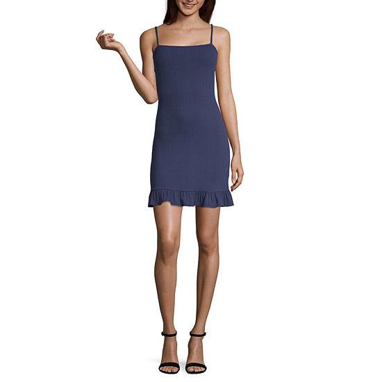 Society And Stitch Sleeveless Ribbed Dress-Juniors