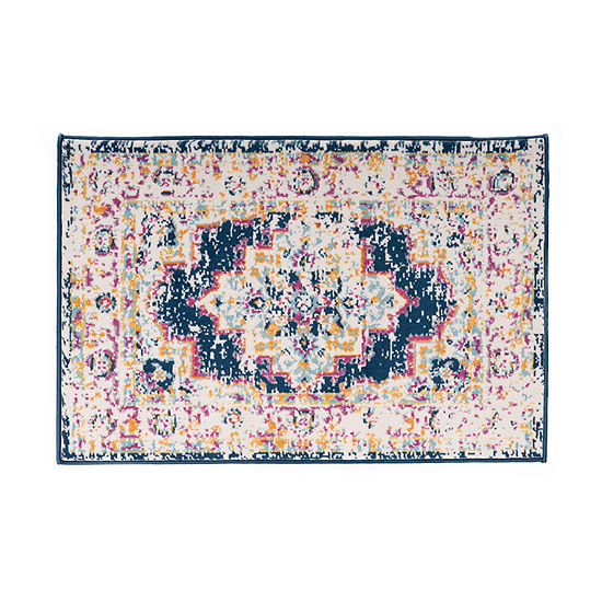 World Rug Gallery Bohemian Medallion Distressed Design Rectangular Indoor Rugs