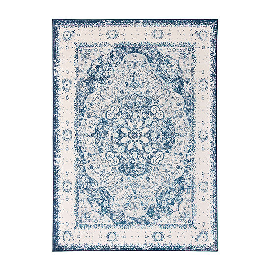 World Rug Gallery Traditional Distressed Medallion Rectangular Indoor Rugs