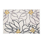 World Rug Gallery Contemporary Large Floral Rectangular Indoor Rugs