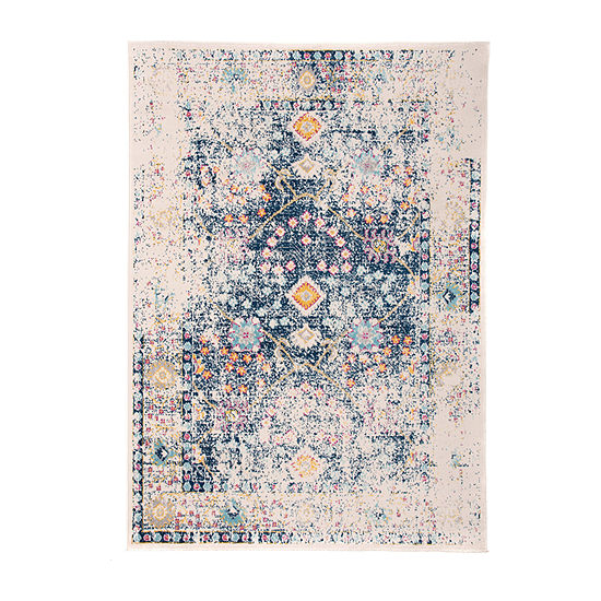 World Rug Gallery Distressed Oriental Border Rectangular Indoor Rugs