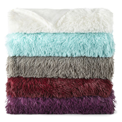 JCPenney Home Shag Knit Midweight Throw