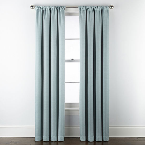 Maxx Blackout Prescott 100% Blackout Rod-Pocket Single Curtain Panel