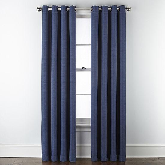 Maxx Blackout Prescott 100 Blackout Grommet Top Curtain Panel