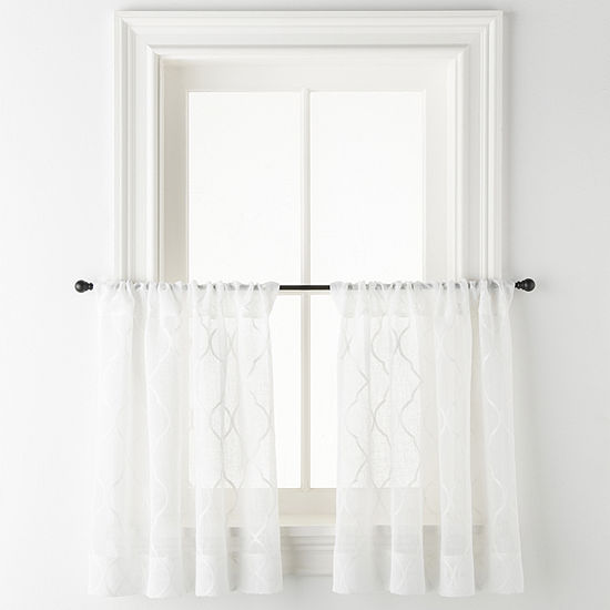 JCPenney Home Bayview Rod-Pocket Window Tiers