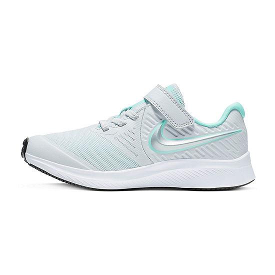 Nike Star Runner 2 Little Kids Girls Elastic Running Shoes
