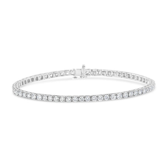 4 CT. T.W. Genuine White Diamond 14K White Gold Tennis Bracelet