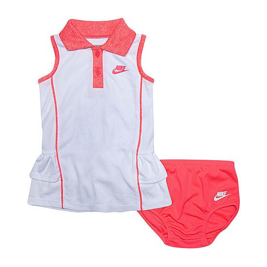 Nike Sleeveless Logo T-Shirt Dresses - Baby Girls