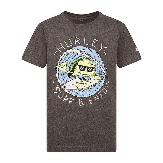 Hurley Boys Crew Neck Short Sleeve Graphic T-Shirt - Big Kid