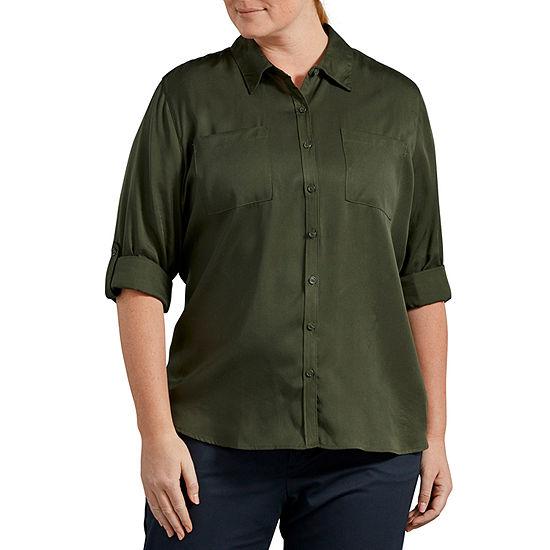 Long Sleeve Lyocell Shirt- Plus