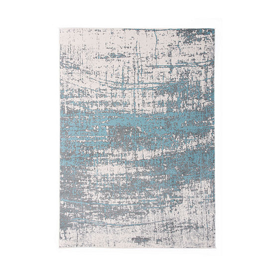 World Rug Gallery Distressed Modern Abstract Design Rectangular Indoor Rugs