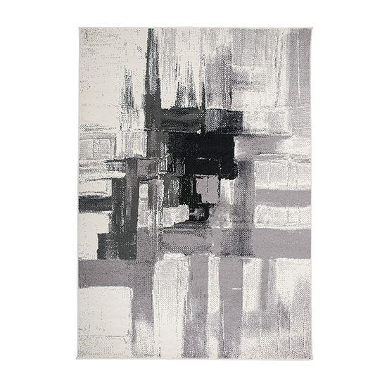 World Rug Gallery Contemporary Modern Abstract Rectangular Indoor Rugs