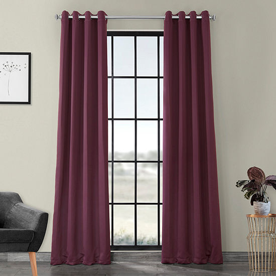 Exclusive Fabrics & Furnishing Solid Blackout Grommet-Top Single Curtain Panel
