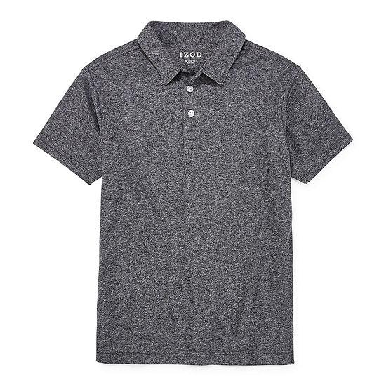 IZOD Little & Big Boys Short Sleeve Wrinkle Resistant Moisture Wicking Polo Shirt
