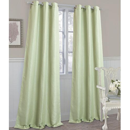 Laura Ashley® Darlington Grommet-Top 2-Pack Curtain Panels