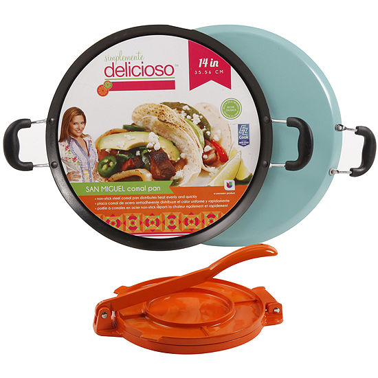 Simplemente Delicioso San Miguel 14 Comal Pan With Tortilla Press