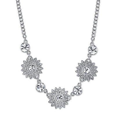 1928® Jewelry Crystal Sunburst Collar Necklace