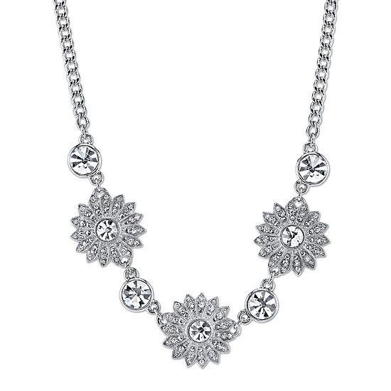 1928® Jewelry Crystal Sunburst Collar Necklace