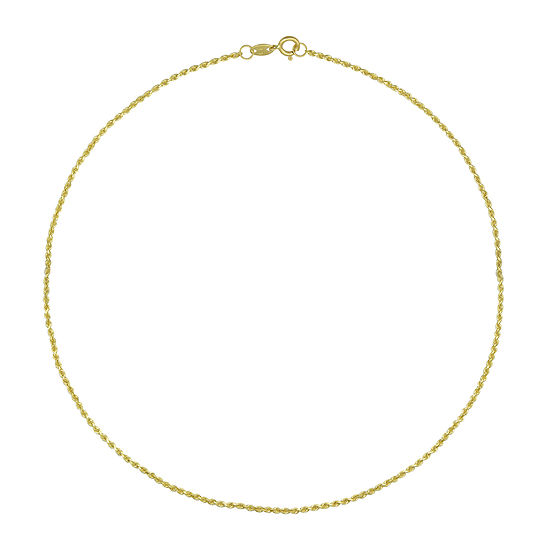 Majestique 18K Gold Solid Rope Chain Necklace