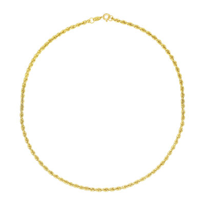 Majestique 18K Gold Hollow Rope Chain Necklace