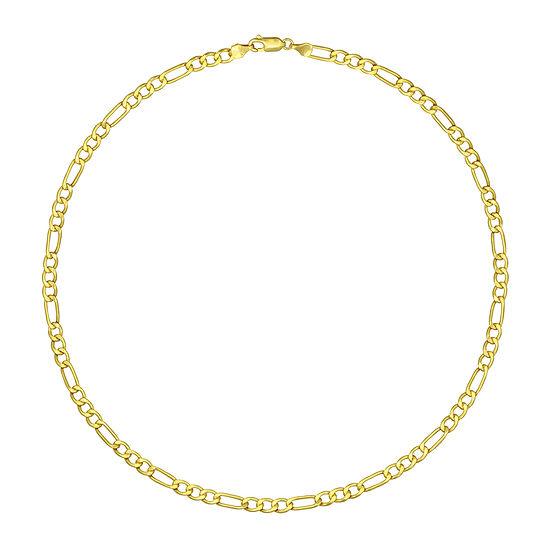 Made in Italy 18K Gold Hollow Figaro Chain Necklace