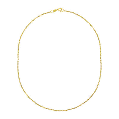 Made in Italy 18K Gold Hollow Perfectina Chain Necklace