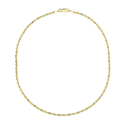 Majestique 18K Gold Hollow Chain Necklace
