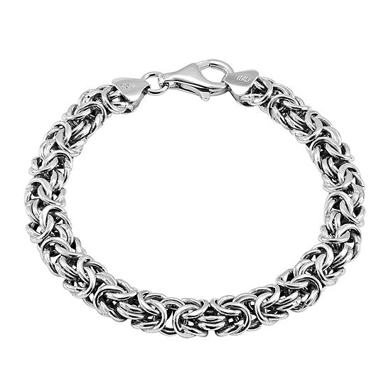 Made in Italy Sterling Silver Byzantine Bracelet