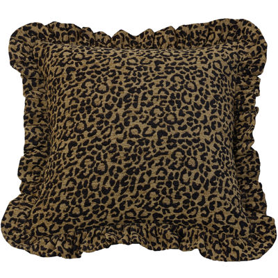 HiEnd Accents San Angelo Leopard Square Decorative Pillow