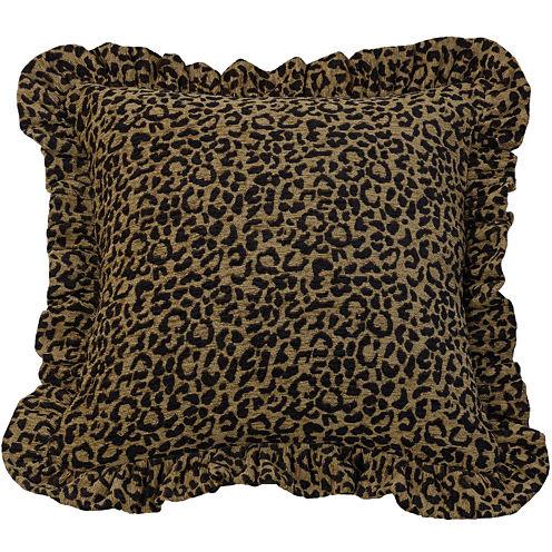 HiEnd Accents San Angelo Leopard Square Decorative Pillow