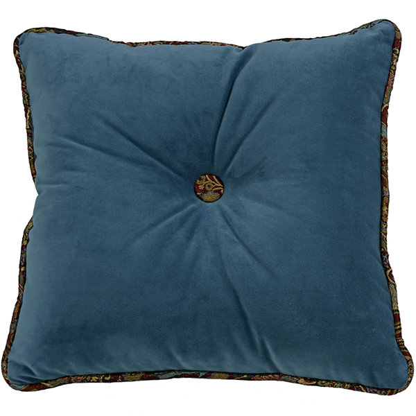 HiEnd Accents San Angelo Velvet Square Decorative Pillow