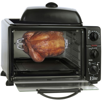 Elite Cuisine ERO-2008S 23-Liter Toaster Oven withRotisserie and Grill/Griddle Top