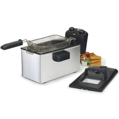 Elite Gourmet EDF-3500 3.5-Quart Immersion Deep Fryer with Timer & Thermostat