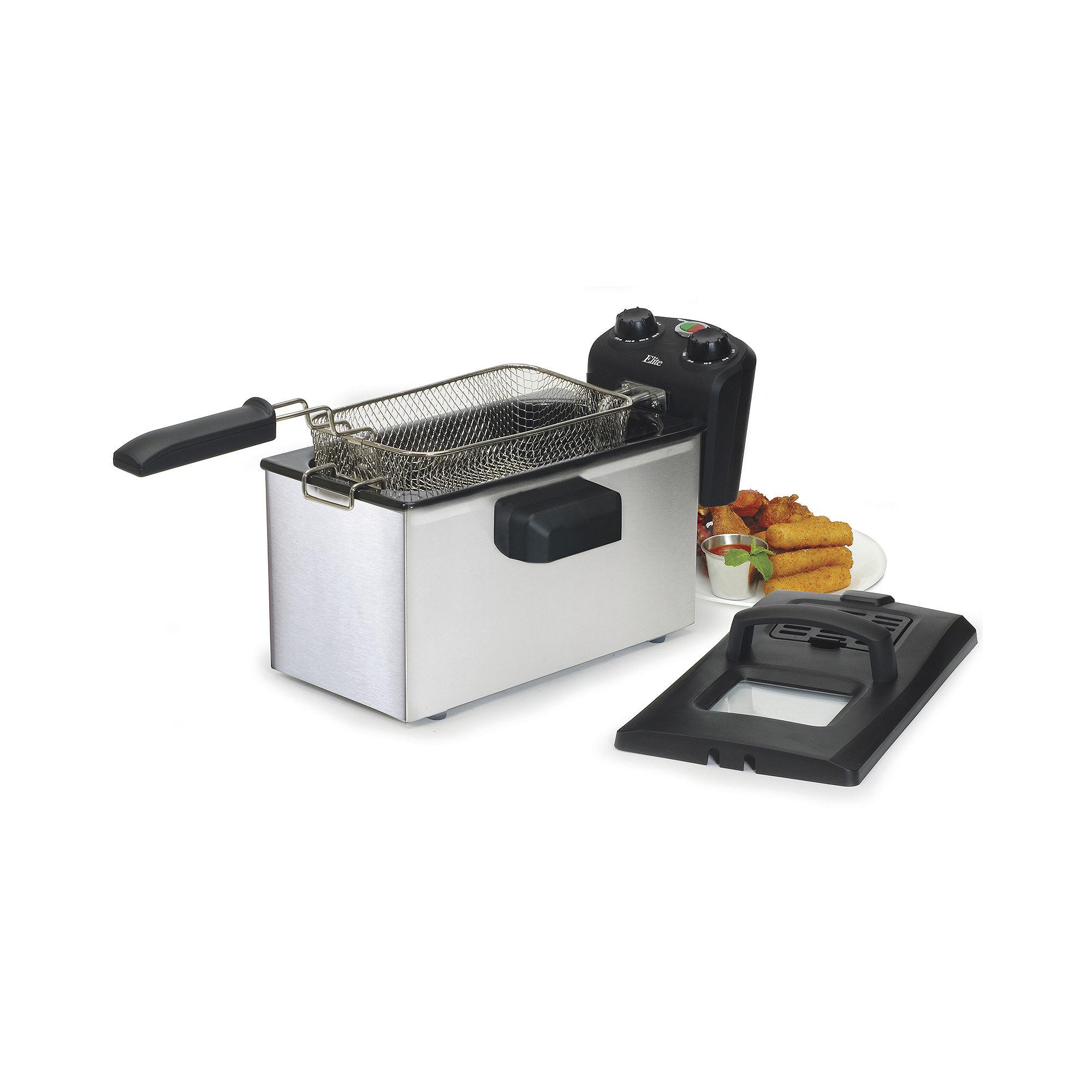Elite Gourmet EDF-3500 3.5-Quart Immersion Deep Fryer with Timer & Thermostat