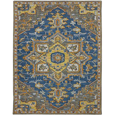 Amer Rugs Boho AB Hand-Tufted Wool Rug, One Size , Blue