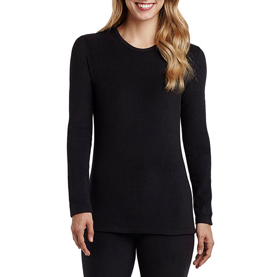 Cuddl Duds Womens Fleece Pajama Top Crew Neck