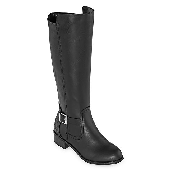 Arizona Womens Dino Wide Calf Riding Boots Block Heel