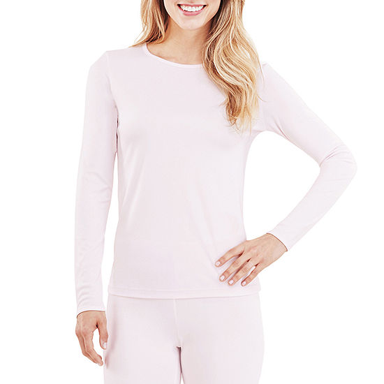 Cuddl Duds Climatesmart Womens-Tall Pajama Top Crew Neck