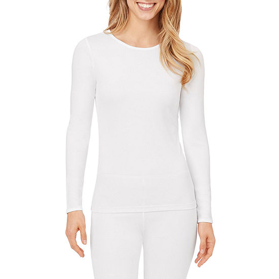 Cuddl Duds Climatesmart Womens-Tall Pajama Top Crew Neck
